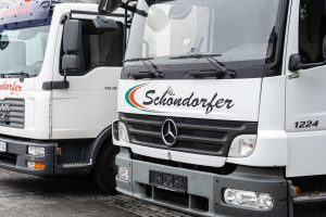 Unsere Lastwagen für die Lieferung von Convenience Produkte und frische Lebensmttel.