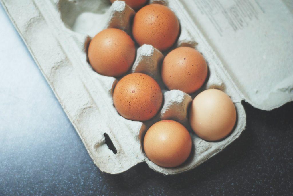 Eier Großhandel im Karton verpackt.